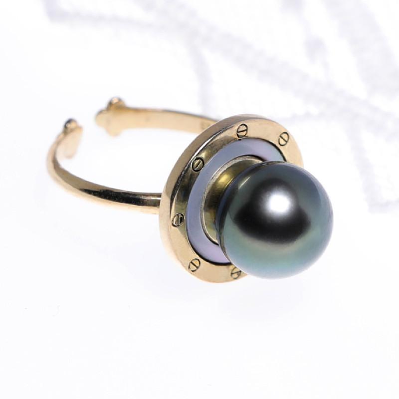 缔梵珠宝海水珍珠925银戒·海水珍珠