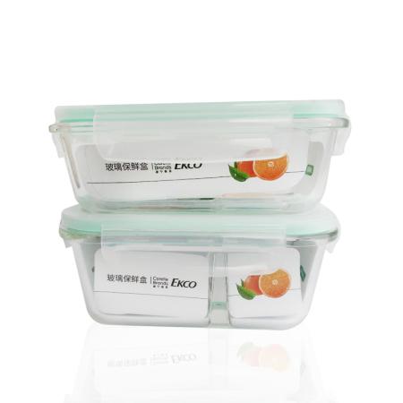 【美国康宁】玻璃保鲜盒两件组650ML+740ML