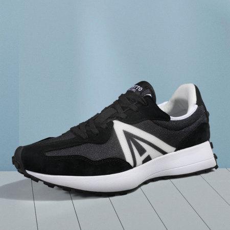 悍途休闲鞋低帮防滑减震运动鞋耐磨户外攀登爬山旅游徒步鞋310740·黑白(女)