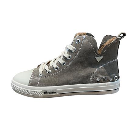 Garthphil 新款休闲平跟复古做旧学生百搭板鞋女·x313-2卡其绒