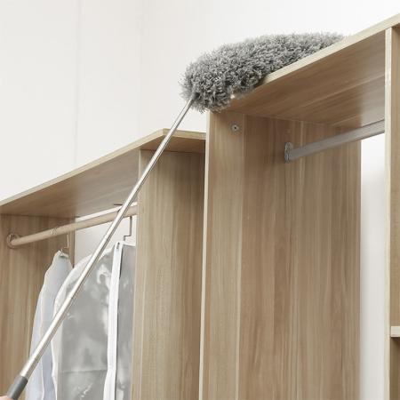 家用可伸缩鸡毛掸子+除尘刷套装·灰色