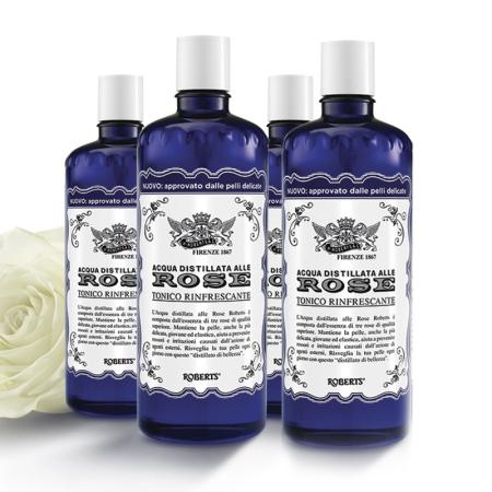 意大利进口艾可玖补水保湿玫瑰水300ml*4瓶·珍贵稀有玫瑰萃取!  共同