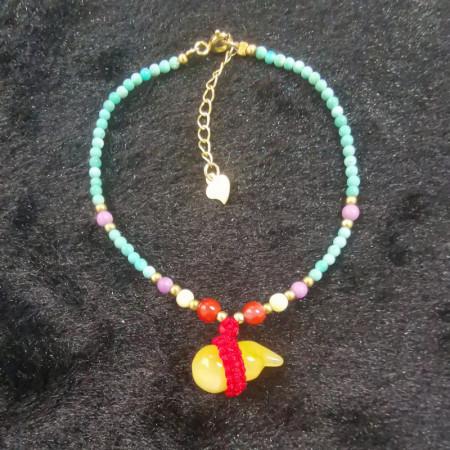 缔梵珠宝琥珀女士绿松手链·琥珀