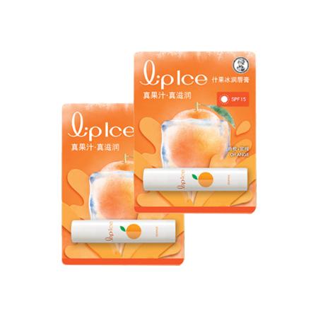 曼秀雷敦什果冰润唇膏-香橙+蜜柑3.5g*2支