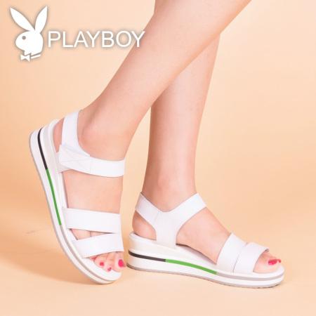 花花公子女士夏季经典凉鞋pl88035·白色