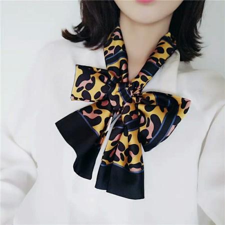香港直邮 豹纹丝巾·黄色