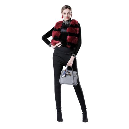 英国JANCYBONY女士高腰提臀羽绒裤·黑色