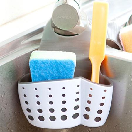 [JM]多用途厨卫水槽挂袋(灰白色)