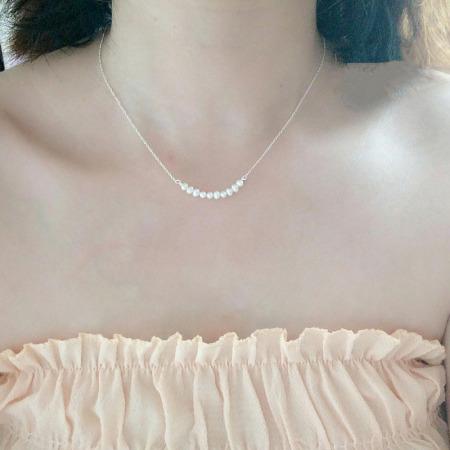 香港直邮 纯银淡水珍珠项链  BX5