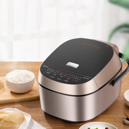 美的Midea IH电磁电饭煲触摸操控热水十八分钟快速饭HS4066  4L