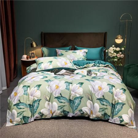 KATES HOME60S新疆长绒棉印花四件套·花之溢-绿