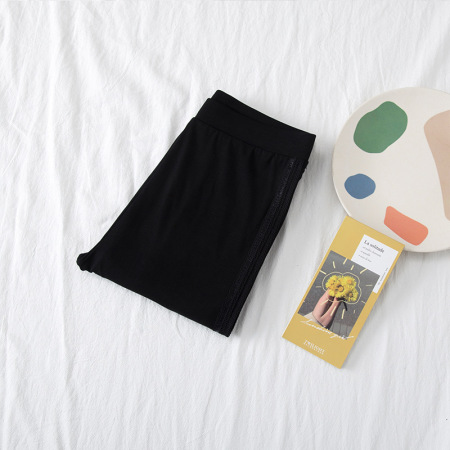 絮笈纯棉/莫代尔打底裤加肥加大200斤胖mm打底裤两件组·莫代尔9795黑色