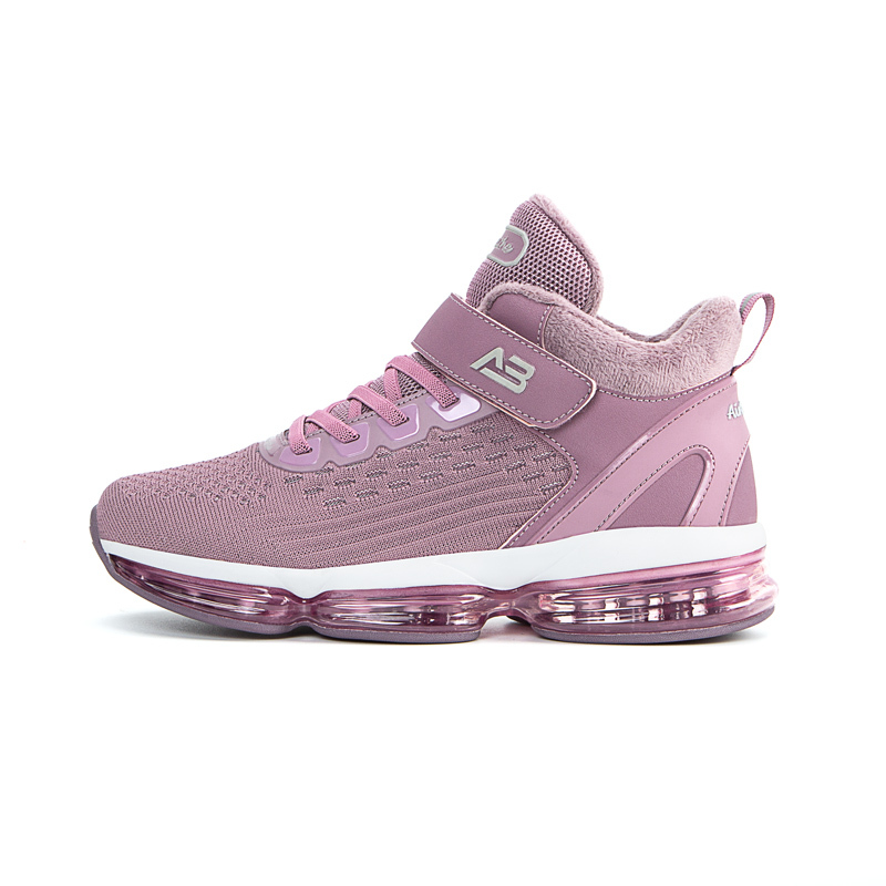 AIRBREATHE高帮暖绒免系带气垫女鞋·紫色