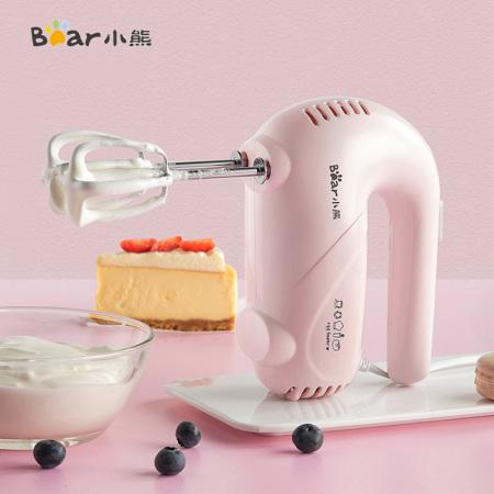 小熊(Bear)家用料理机电动手持搅拌机烘培打蛋器搅拌器DDQ-A01G1·粉色