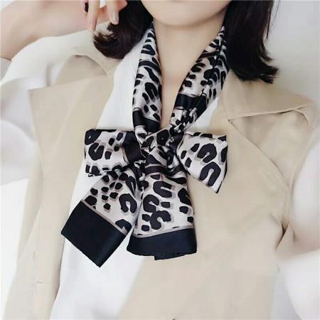 香港直邮 豹纹丝巾·白色