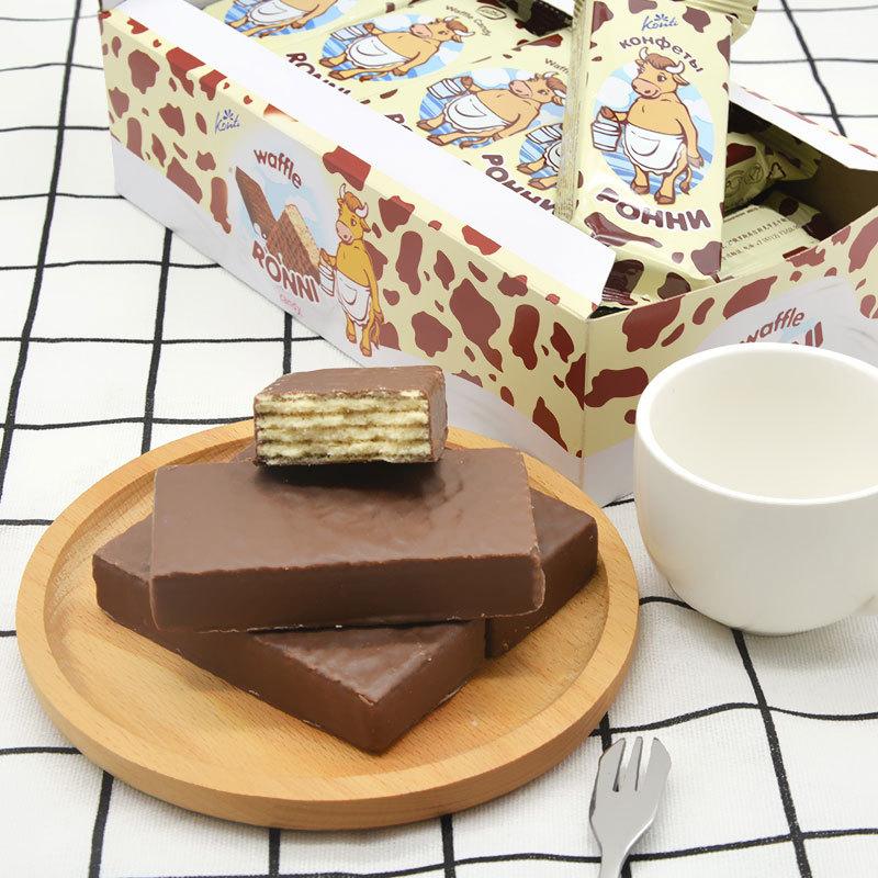 KONTI巧克力威化饼干495g/盒 2盒装