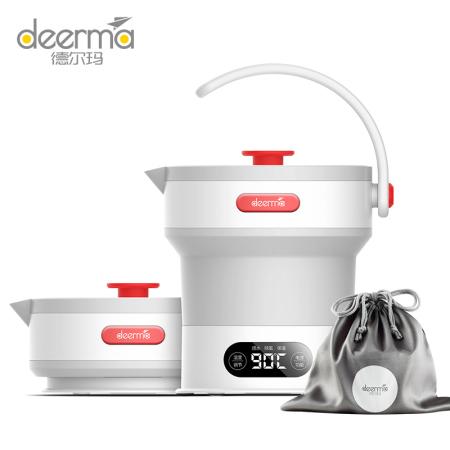 德尔玛 折叠水壶便携式烧水壶 电热水壶 烧水壶开水壶 DH300
