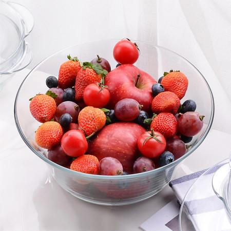 DURALEX多莱斯 法国进口餐具套装大沙拉碗两只装 透明色