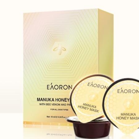 EAORON澳洲蜂毒面膜泥膜涂抹式清洁保湿补水蜂蜜焕白紧致10g*8个·乳白