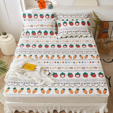 一梦全棉绗缝床护垫·田园趣味  米