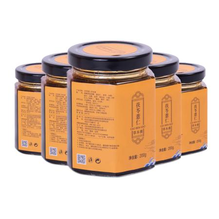 御品膏方茯苓薏仁草本膏养生组200g*5瓶