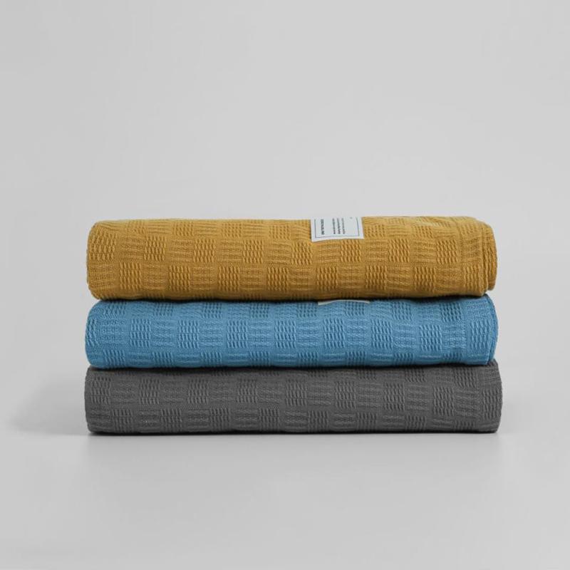 三利纯棉夏季双人空调夏凉被纱布盖被·4色可选!优选棉品!舒适透气!柔软睡眠!