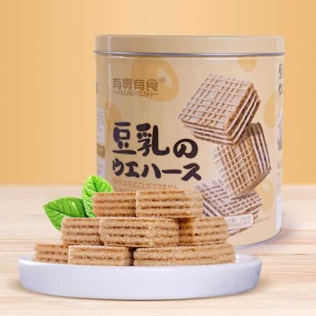 有零有食豆乳威化饼干288g*2罐装