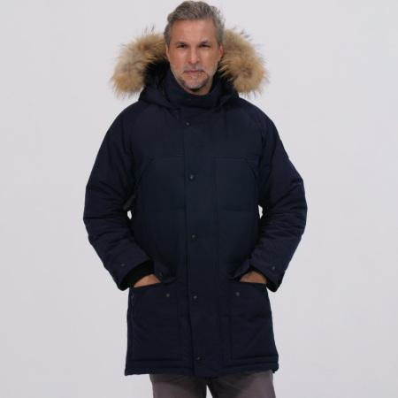 加拿大SaintDyfan95%男士白鹅绒服(绗缝款)·蓝色