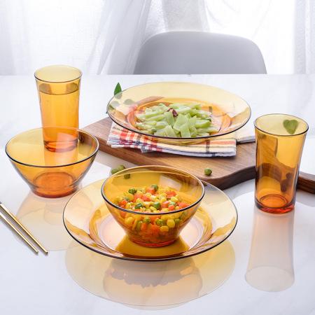 DURALEX多莱斯 优雅双人6件餐具套装 琥珀色