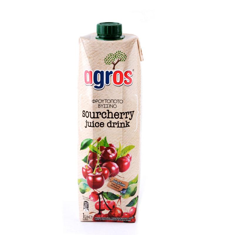 希腊进口 莱果仕果汁1L*2盒·酸樱桃汁饮料