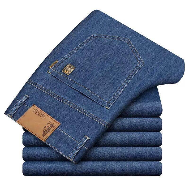男士莫代尔超软牛仔裤·深蓝色--高腰深档!面料柔软!面料微弹!  深蓝色