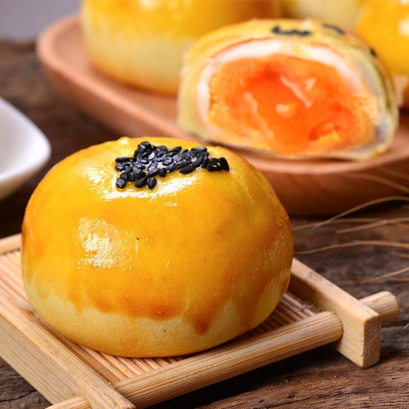 海鸭蛋蛋黄酥6枚*2盒 (红豆+芝士流心酥) ,现做现发 酥软甜糯