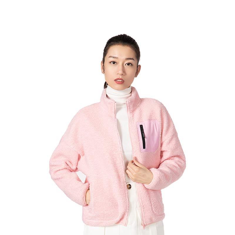 EUK 多功能旅行轻暖外套女款·粉色
