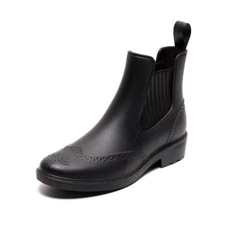 情侣款时尚雨鞋·马丁黑--晴雨两用!舒适透气!超强拒水!3款可选!