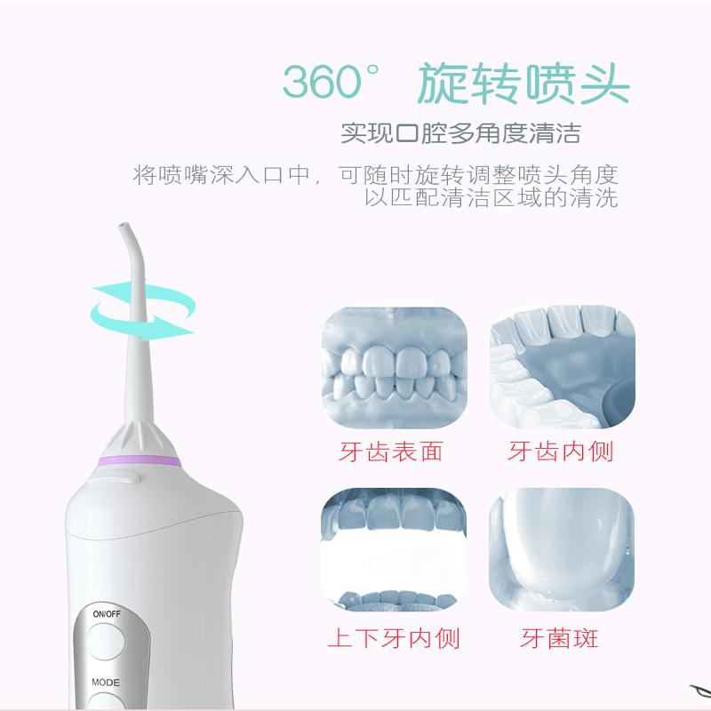 韩国Nuline便携式冲牙器超值组·白色