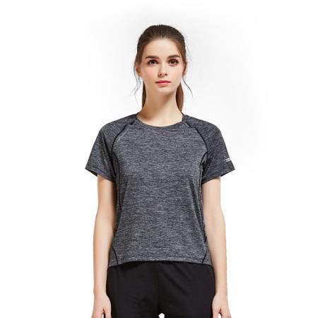 悍途男女短袖速干T恤夏季舒适休闲21699·摩卡黑-女款