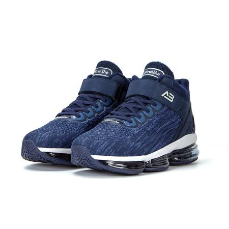 AIRBREATHE高帮暖绒免系带气垫男鞋·蓝色