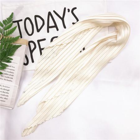 香港直邮 皱褶菱形纯色丝巾·米白色
