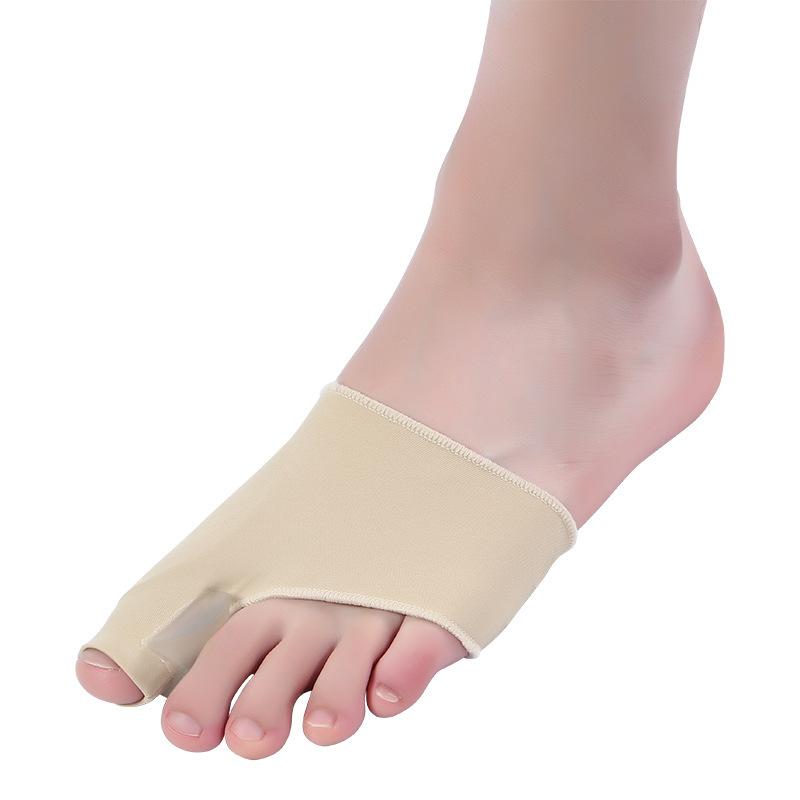 拇外翻加胶 大脚骨矫正器弹性莱卡布硅胶脚趾分离器·杏色  杏色