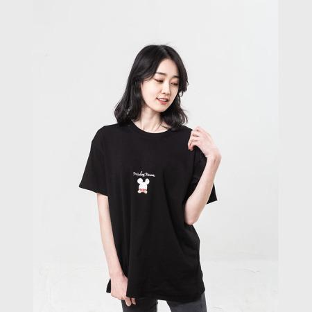 【亲子款】梦丝逸男女2020新款韩版T恤·黑色成人款