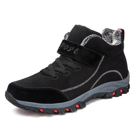 旺克加绒徒步男女登山运动鞋B03-D03·男款加绒黑色