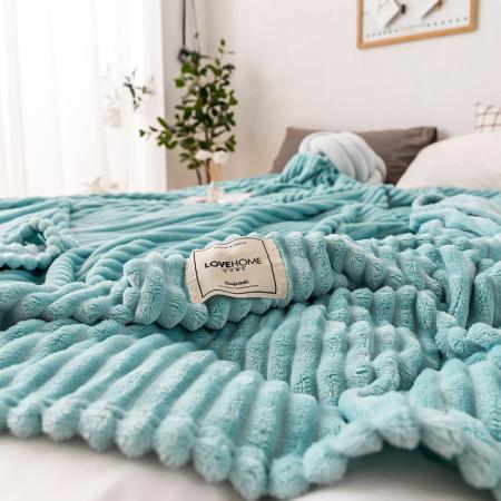 凯特之家牛奶绒毛毯·天空蓝