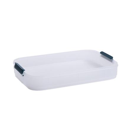 手提饺子盒保鲜收纳盒托盘可叠加·墨蓝无盖