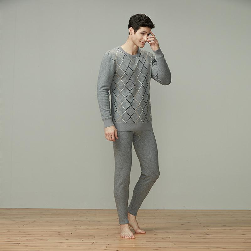 纤丝鸟羊毛套装·17260麻灰色
