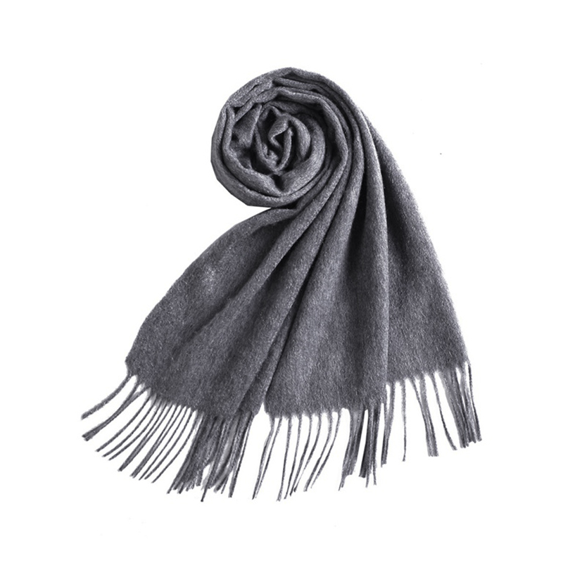 羚羊早安 2020羊绒围巾-gr202·深灰