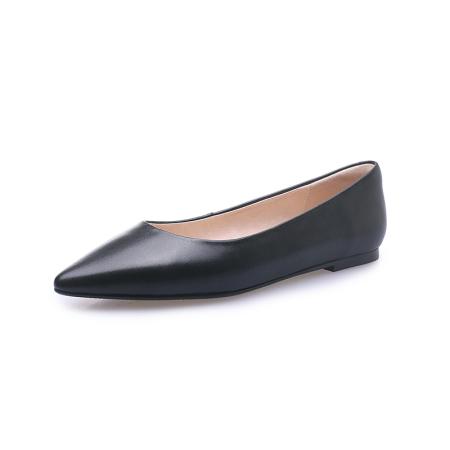 奈绮儿Naiyee 平底尖头浅口简约单鞋女鞋子·MMLR-M661黑色