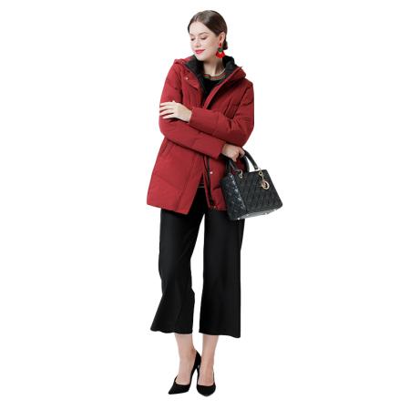 英国JANCYBONY女款舒适羽绒服·酒红