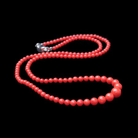 映时 精选简约红珊瑚塔链项链