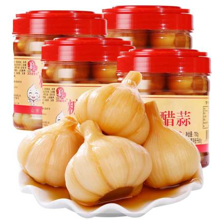 姜老大糖醋蒜750g*4瓶(750g*2*2个包裹哦)