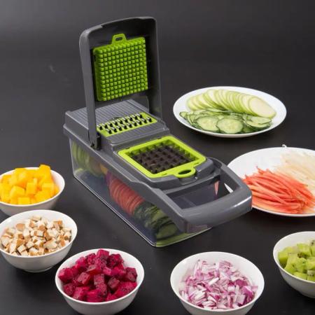 美之扣 压刨两用多功能切菜器·灰绿色